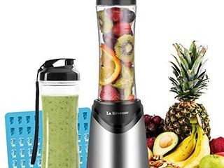 Smoothies Blender Personal Size 300 Watts with 2 Pieces 18 oz BPA Free Portable Travel Sports Bottles  Silver 2 Cups