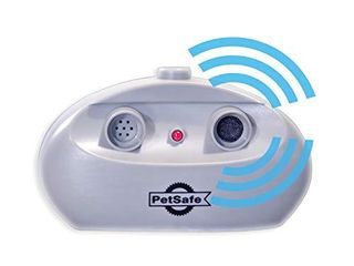 PetSafe Indoor Ultrasonic Dog Bark Control   No Collar Needed   Up to 25 ft Range   Anti Bark Pet Training System   Automatic with Manual Trainer Button