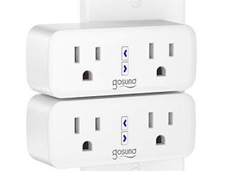 Smart Plug Gosund WiFi Outlet Extender Dual Socket Plugs Works with Alexa Google Home  Schedule and Timer  Control Independently or Together  10A  No Hub Required  FCC listed  2 Pack