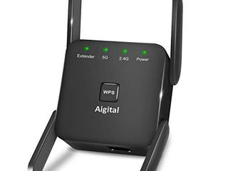 Aigital WiFi Range Extender 5GHz   2 4GHz 1200Mbps WiFi Repeater Wireless Signal Booster 360 Degree Full Coverage WiFi Signal Booster Amplifier   WPS Function for Home