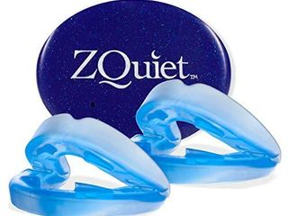 ZQUIET Anti Snoring Mouthpiece Solution  2 Size Comfort System Starter Kit   Made in USA   FDA Cleared  Natural Sleep Aid Device  Dentist Designed Oral Appliance