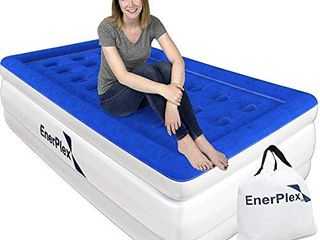 EnerPlex Never leak Twin Air Mattress with Built in Pump Raised luxury Twin Airbed Double High Twin Inflatable Bed Blow Up Bed