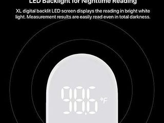 iHealth No Touch Forehead Thermometer  Digital Infrared Thermometer for Adults and Kids  Touchless Baby Thermometer with 3 Ultra Sensitive Sensors  large lED Display and Gentle Vibration Alert  PT3