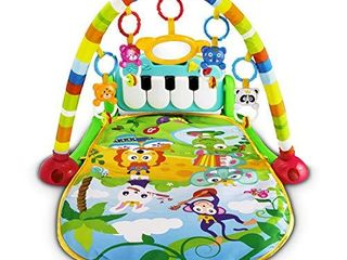 UNIH Baby Gym Play Mats  Kick and Play Piano Gym Activity Center for Infants