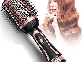 Hot Air Brush  JOMARTO Hair Dryer   Volumizer  Hair Dryer Brush  3 in 1 Salon Hair Drying Styling Tool  Electric Blow Dryer for Straight  Curly and Wet Hair  Rose Gold