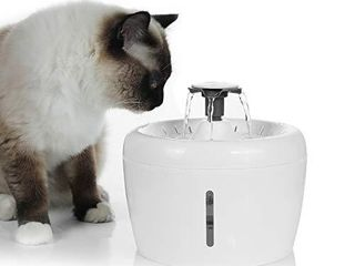 large Cat Water Fountain  84oz 2 5l lED light Pet Drinking Water Dispenser  Dog Automatic Water Fountain  Quiet Electric Water Bowl 3 Flow Settings  with Water level Window