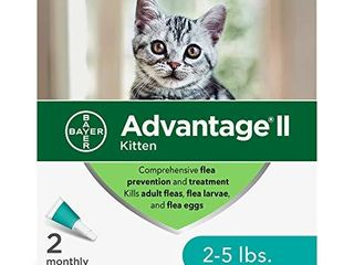 Advantage II 2 Dose Flea Treatment and Prevention for Kittens  2 5 lbs