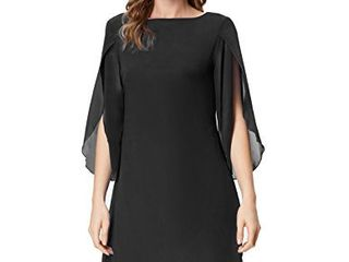 GRACE KARIN Casual loose Chiffon Dress for Women Party Wedding Dress with Sleeve l
