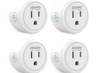 Smart plug  Gosund Mini Wifi Outlet Works with Alexa  Google Home  No Hub Required  Remote Control Your Home Appliances from Anywhere  ETl listed Only Supports 2 4GHz Network 4Packs
