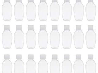 TRENDBOX 24 Pack 50ml Plastic Empty Bottles with Flip Cap Travel Containers Travel Size Bottles with Flip Cap for Shampoo  liquid Body Soap  Toner  lotion  Cream