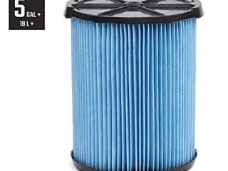 CRAFTSMAN CMXZVBE38751 Fine Dust Wet Dry Vac Filter for 5 to 20 Gallon Shop Vacuums  Blue And Black  9 38751