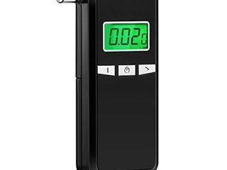 Breathalyzer  Portable Breathalyzer Alcohol Tester with Digital Breath Alcohol Tester with Blue Backlight lCD Display for Personal   Professional Use with 5 Mouthpieces