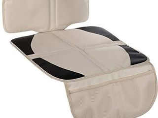 Funbliss car seat Protector for Child car seat Beige Thick Padding Carseat Kick Mat with Organizer Pockets Waterproof 600D Fabric Vehicle Dog Cover Pad for SUV Sedan leather Seats