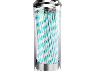 New Star Foodservice 26641 Stainless Steel Straw Dispenser  3 5  by 10 6  Clear