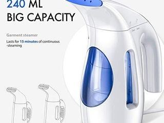 Hilife Steamer for Clothes Steamer  Handheld Garment Steamer Clothing  Mini Travel Steamer Fabric Steam Iron 240ml Big Capacity Upgraded Version