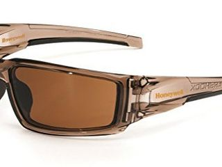 Uvex by Honeywell Hypershock Safety Glasses  Brown Frame with Espresso lens   Uvextreme Plus Anti Fog Coating  S2961XP