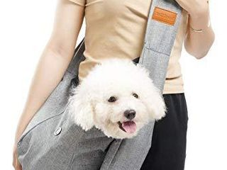 SniffSnout Pet Sling for Small Dogs   Dog Sling Carrier   Sturdy Washable and Comfortable Hands Free Small Dog Carrier with Zipper Pocket Safety Clip