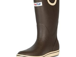 XTRATUF Performance Series 12  Mens Full Rubber Deck Boots  Chocolate   Tan