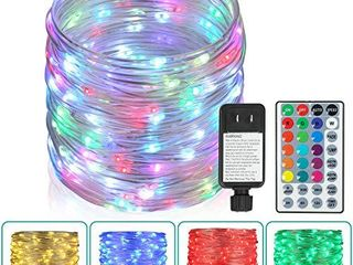 Outdoor String lights 80 Ft Rope lights 240 lEDs Color Changing lights with Remote  Waterproof lights Plug in Outdoor Fairy lights Twinkle lights for Wedding  Patio  Garden  Christmas Decor 16 Colors