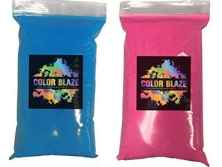 Color Blaze Gender Reveal Powder  1 lb Pink   1 lb Blue  2 lbs Total  Perfect for Baby Reveals for car Exhaust  burnouts  photoshoots  Balloons  pinatas  and More   1 lb Pink Blue