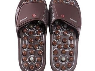 BYRIVER Therapeutic Acupuncture Massage Flip Flops Slippers Foot Relaxation Tools  Plantar Fasciitis Massager Gift for dad mom  03M
