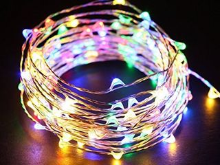 Multicolored Fairy String lights  33 Ft 100 led Waterproof Starry Firefly String lights Plug in on Silver Wire  Perfect for Crafts DIY Christmas Party Wedding Bedroom Indoor Decorations