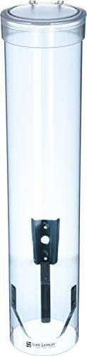 San Jamar C3165TBl C3165FBl Medium Pull Type Water Cup Dispenser  Fits 4 to 10 oz Cone and Flat Bottom Cups  16  Tube length  Transparent Blue