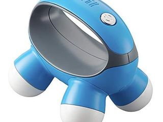 HoMedics  Quatro Mini Hand Held Massager with Hand Grip  Battery Operated Vibration Massage  4 Massage Nodes  Powered by 2 AAA Batteries