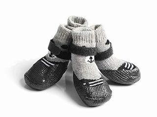 DORA BRIDAl 4 Pcs Anti Slip Dog Socks  Waterproof Paw Protectors Nonslip Sports Socks Shoes  Warm Soft Traction Control for Indoor   Outdoor Wear for Small Medium large Pet Dogs