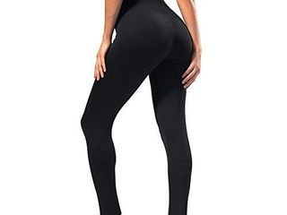 SYRINX High Waisted leggings for Women   Soft Athletic Tummy Control Pants for Running Cycling Yoga Workout   Reg   Plus Size  Black Color  large   X large
