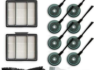1 Main Brush   2 Pack Hepa Filter   8 Side Brushes Replacement for Shark ION Robot S87 R85 RV850 R87 R76 RV871 RV761 Vacuum Cleaner