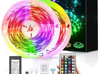 led Strip lights Waterproof  DAYBETTER 32 8ft lED Tape lights Color Changing lEDs light Strips Kit with 44 Keys Ir Remote Controller and 12v Power Supply for Indoor Outdoor Use