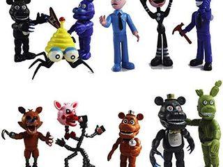 12 Pack Five Nights at Freddy s Action Figures Toys Cake Toppers Play Set Gifts  Figures Set