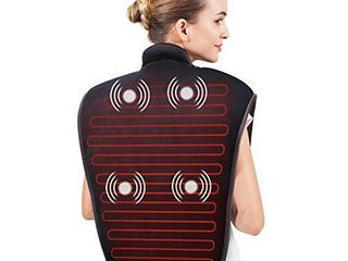 Snailax Heating Pads for Neck and Shoulders large Heat Wrap with Fast Heating and 5 Massage Modes  Heating Pad for Back  Best Gifts for Women