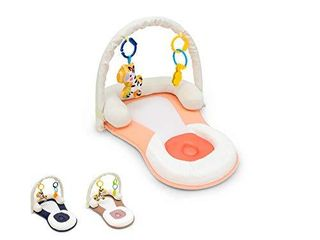 Easy Portable Baby Bed with Head Support  Non Toxic  Foldable  Adjustable  Travel Bed Newborn lounger  Tan