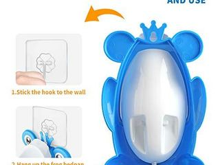 Potty Training Urinal with Cleaning Brush for Toddler Boys Toilet  Blue