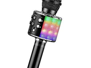 BlueFire Bluetooth 4 in 1 Karaoke Wireless Microphone with lED lights  Portable Microphone for Kids  Girls  Boys and Adults