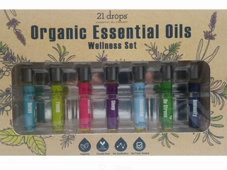 21 drops essential oil therapy organic essential oils Wellness set organic cruelty free third party tested