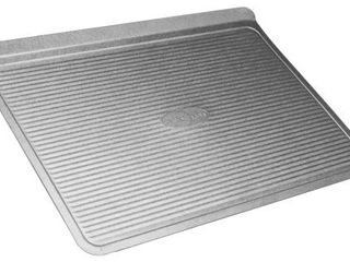 USA Pan Bakeware Cookie Sheet  large  Warp Resistant Nonstick Baking Pan  Made in the USA from Aluminized Steel Silver