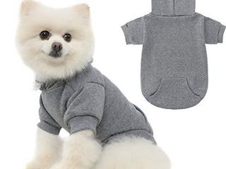 KOOlTAIl Basic Dog Hoodie   Soft and Warm Dog Hoodie Sweater with leash Hole and Pocket  Dog Winter Coat  Cold Weather Clothes for XS XXl Dogs