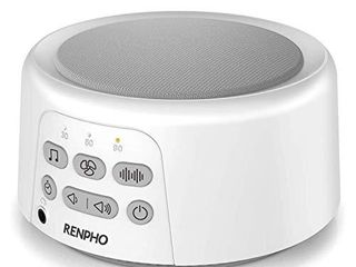 White Noise Machine  Sleep Sound Machine for Baby Sleeping  RENPHO 36 HiFi Memory Function Non looping Soothing Sound Sleep Therapy for Home  Office  Travel  Baby  Kids  and Adults  White