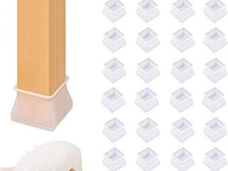 32 Pack Chair leg Caps Silicone Floor Protector Furniture Table Feet Covers