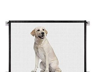 Easy Install Mesh pet Safety gate fits Spaces up to 6 feet Wide and Measures Approximately 72 x30