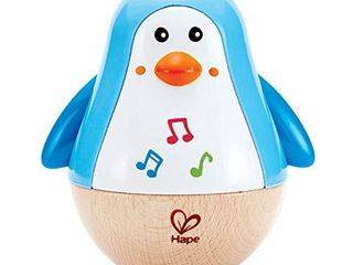 Hape Penguin Musical Wobbler   Colorful Wobbling Melody Penguin  Roly Poly Toy for Kids 6 Months  Multicolor  5  x 2   E0331