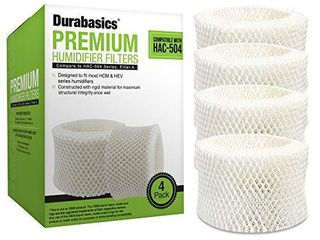 Durabasics 4 Pack of Premium Humidifier Filters Compatible with Honeywell Humidifier Filter HAC 504  HAC 504AW   Honeywell Filter A   Replacement for Honeywell Filter HCM 350   Cool Mist Humidifiers