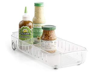 YouCopia RollOut Fridge Caddy  6  Wide  Clear