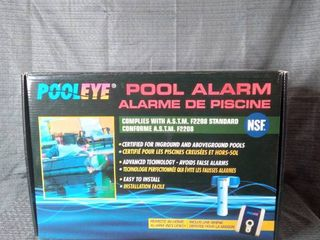 POOlEYE POOl AlARM Complies with A S T M F2208 Standard certified for in ground and above ground pools advanced technology avoid false alarms easy to install remote in home alarm included