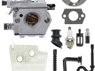 Mengxiang WT 194 Carburetor for 026 MS240 024 024S MS260 Chainsaws Walbro WT 194 1 1121 120 0611 11211200611 Tillotson HU 136A HS 136A with 1121 120 1617 Air Filter Turn up kit