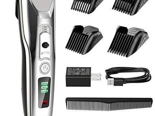 Paubea Hair Clippers for Men   Cordless Ceramic Blade Mens Hair Trimmer Beard Trimmer Hair Cutting   Grooming Kit Rechargeable