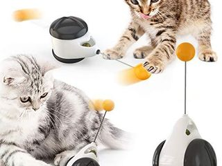 Interactive Cat Chasing Toy Balance Car Design Tumbler Catnip Toy Teaser Toys for Indoor Kitten Cats